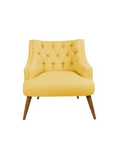Ze10 Design Lamont Tekli Koltuk Sarı Sarı